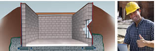 Concrete Block Basement Diagram